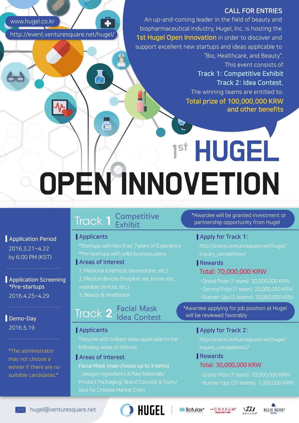 1st Hugel Open Innovation Poster - ENG